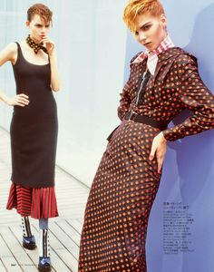 visual optimism; fashion editorials, shows, campaigns & more!: play the new look: ellen pinaffi and angelika by tisch for elle japan november 2013