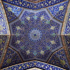 Ceiling in a mosque in Esfahan, Iran