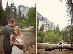 Being from the mountains myself - I adore weddings set there. Sarah and Ryan in Yosemite // Images by Sara France
