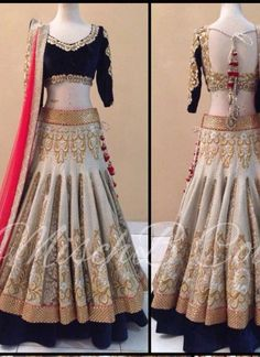 Beige Lace Border Embroidery Stone Work Banarasi Jacquard Party Wear Lehengas http://www.angelnx.com/