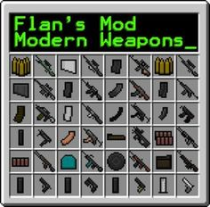 Flan's Modern Weapons Pack Mod - Minecraft Mods, Resource Packs, Texture Packs, Maps All Minecraft, Minecraft Skins, Minecraft Survival, Minecraft Designs, Minecraft Ideas, Android, Pocket Edition, Mini Games, Free Download
