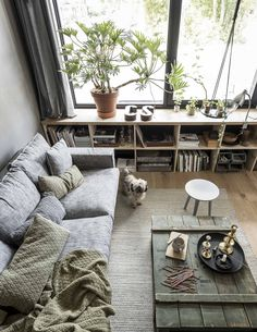 Beautiful Minimalist Living Room Ideas For Your Dream Home Living Room Green, My Living Room, Living Room Decor, Living Spaces, Interior Exterior, Interior Design, Living Room Shelves, Style Deco, Living Room Remodel