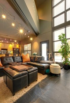 beautful industrial-inspired townhouse... complete with a basement!