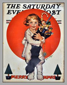 """""""Saturday Evening Post"""" Cover -- Christmas, December 18, 1926"""