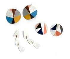 Peta Kruger, painted earrings