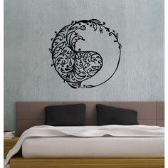 Swirly Yin Yang Vinyl Sticker Wall Art