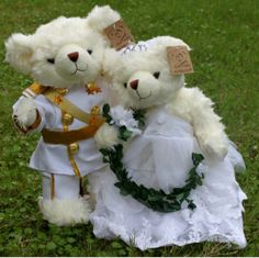 Wedding Teddy Bears | Prince Philip Teddy Bear in Wedding Dress