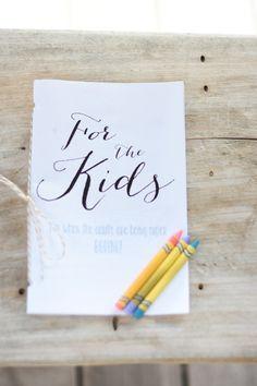 kids activities for weddings
