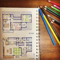 . #kazuhaマイホームプランニング . 昨日のプランに多くのいいねとフォローをいただきまして…♀️ ありがとうございます❣️✨ . とてもびっくりしております . 2階のプランも見てみたい! とのお声を頂いたので、僭越ながらupさせていただきます♀️ . 30坪の家にするために 洋室6畳×3室と3畳のWICというコンパクトな2階です . 全ての部屋を南に❣️ トイレと洗面は階段下にあるので2階にはなし❣️ . あと玄関が小さめなので 吹抜にしておしゃれな照明をつけたいな〜 という小さなこだわり . 2階はまだ全然考えてないのでアドバイスください♀️✨ . ※ちなみに、バルコニー、ウッドデッキは30坪に含まれていません※ . #家事動線 #夢のマイホーム #マイホーム #マイホーム計画 #マイホーム計画中 #マイホーム計画中の人と繋がりたい #間取り図 #間取り図大好き #新築一戸建て