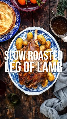 This Slow Cooked Leg of Lamb is roasted leisurely until it is melt-in-the-mouth tender and falling off the bone. Probably the easiest roast lamb recipe you will ever make – after some initial prep you sit back and let your oven do the work. Leg Of Lamb Oven, Slow Cooked Lamb Leg, Slow Cooker Lamb Roast, Slow Cooker Leg Of Lamb Recipe, Slow Roast Lamb Leg, Lamb Recipes Oven, Beef Soup Recipes, Roast Recipes, Recipes Dinner