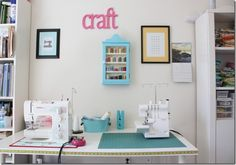cute colorful craft room!