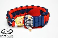 Thor Lego Minifigure Paracord Bracelet by Cape Cord Paracord