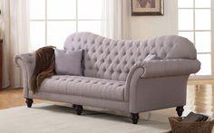 Diana Classic Victorian Linen Sofa