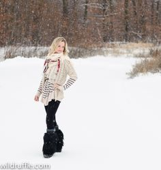 keeping warm but stylish in layers and fuzzy boots for Minnesota winters