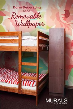 Looking for dorm room inspiration? Use removable wallpaper to add style to any dorm room.