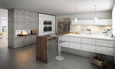 Er vild med pejsen man kan se igennem ind til stuen. Dejlig stort køkken.