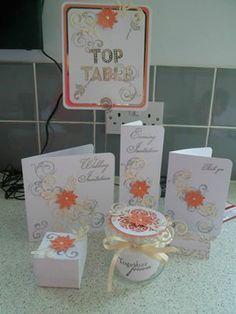 Peaches & cream themed stationary
