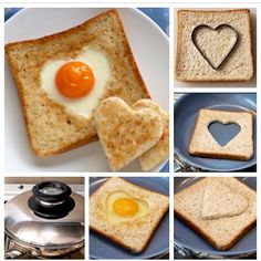 Surprise your lover with a heart egg for breakfast :)