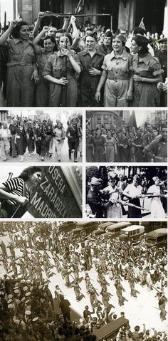 CNT Anarchist militia women in the Spanish Civil War