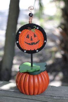 black sheep needlepoint orlando florida, pumpkin - finishing By Mountain Shadow Studio