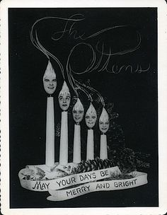 Is it weird ?: Weird Vintage Christmas Cards