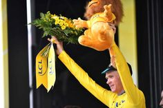 Chris Froome in yellow after stage 15.
