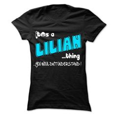 It is LILIAN Thing ... 999 Cool Name Shirt ! - #bridesmaid gift #gift for mom. GET YOURS => https://www.sunfrog.com/LifeStyle/It-is-LILIAN-Thing-999-Cool-Name-Shirt-.html?68278