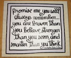 Hand Made Wood Quote Sign WINNIE THE POOH Promise Me Baby Nursery Kids Room. $29.00, via Etsy.