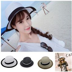 Unisex Summer Big Wide Brim Jazz Cap Travel Arc Beach Straw Panama Sun Hat   Unbranded  Panama  DailyTravel 137e2e7fd1c9