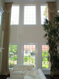 Custom Window Treatments For Two Story Windows Find More