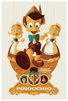"Pinocchio poster by strongstuff- This guy does fantastic work! ""ive got no strings to hold me down"" (:"