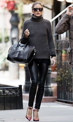 Olivia Palermo does a perfect Fall outfit