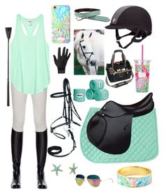 Equestrian Lilly Pulitzer style by bhorseart on Polyvore featuring Miasuki and Lilly Pulitzer