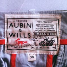 Aubin & Wills label Outdoor Brands, Outdoor Apparel, Typography Letters, Lettering, Swing Tags, Clothing Labels, Vintage Labels, Logo Design, Graphic Design