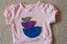 diy bird onesie-but with boy designs for Graham: elephants, turtles, bears, fish, cars, etc.