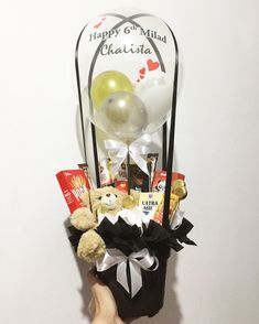 Air balloon snack bouquet for birthday