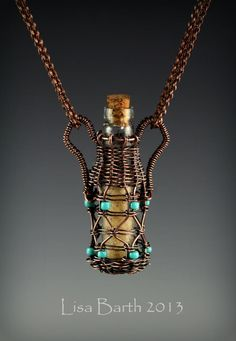 Lisa Barth - Sands of Time    sweet urn style capturing a vial of sand