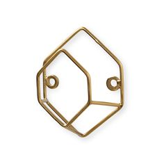 Make shapes and give displaying and hanging your belongings a new dimension with this Gold 3D  Hexagon Wall Hook