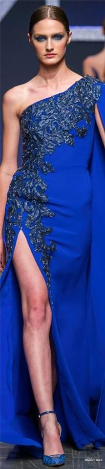 Renato Balestra Fall 2016 royal blue hoco dress / royal blue party dress / blue gown royal / white and royal blue wedding / blue dress royal Blue Party Dress, Blue Gown, Style Couture, Couture Fashion, Fashion Beauty, Blue Fashion, Colorful Fashion, Style Bleu, Blue Style