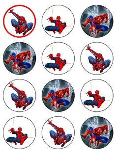 Includes: Sheet Superman Image Superman Cupcake Toppers Price includes shipping Ships to U. Territory Only Spiderman Cake Topper, Spiderman Theme, Superman Party, Superhero Party, Festa Party, Cupcake Party, Man Birthday, Birthday Party Decorations, Prints