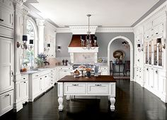 Kitchen Updates That Pay Back - Traditional Home® Beautiful Period Kitchen with mahogany accents.