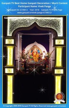 Vivek Pange Ganpati 2018 Decoration Pictures, Decorating With Pictures, Ganpati Picture, Ganpati Festival, Lord Ganesha, Festival Decorations, Picture Video, Tv, Home Decor