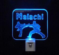 Personalized Karate, Tae Kwan Do LED Night Light - Unique LED Products  #karate #taekwando, #nightlight #kids