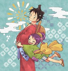 Monkey D Luffy Luffytaro Wano O-Tama One Piece - Modern One Piece Comic, One Piece Manga, Ace One Piece, One Piece Series, One Piece World, One Piece Fanart, One Piece Luffy, Monkey D Luffy, Fairy Tail