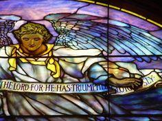 Detail of Tiffany window at Faith Chapel, Jekyll Island, GA