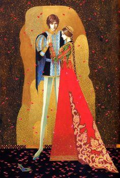 based on Romeo and Juliet.illustration by Toshiaki Kato. Art And Illustration, Illustrations, Fantasy Kunst, Fantasy Art, Romeo Y Julieta, Inspiration Art, Wow Art, Kato, Medieval Fantasy