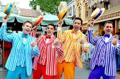 Dapper Dans at Disneyland! My friend Nathan Shrake in yellow!!