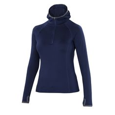 This Jacket looks truly lovely. And the sleeves are so long..... Wear in cold weather.  All-season Merino jersey half-zip hoody