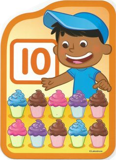 Numero 10 lámina, imagen, imprimir, preescolar, matematicas matemáticas número LAKESHORE