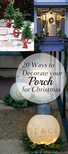 A good-looking decorated porch is a must for Christmas and if you're searching how to do this, here're the 20 ways to decorate it!